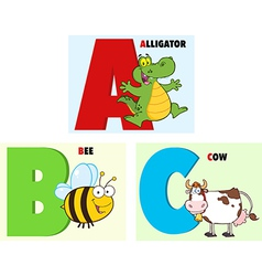Childrens cartoon letters vector image