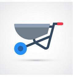 colored wheelbarrow trendy symbol vector image