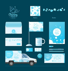 Corporate identity Cleaning service vector