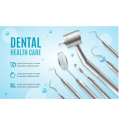Dental health care concept banner horizontal with vector