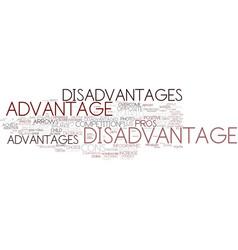 Disadvantage word cloud concept vector