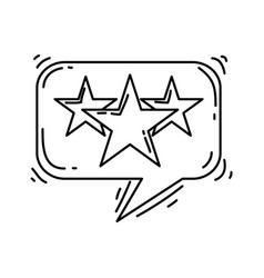 e-commerce rating hand drawn icon set outline vector image