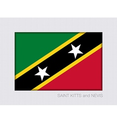 Flag of Saint Kitts and Nevis Flag 2 to 3 vector