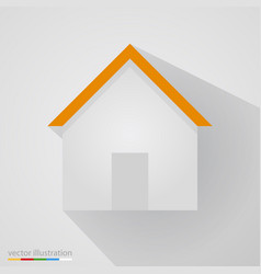 flat home sign on white background with shadow vector image vector image