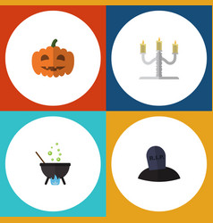 flat icon celebrate set of candlestick magic vector image