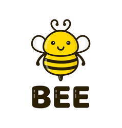 Fun cute happy smiling bee vector