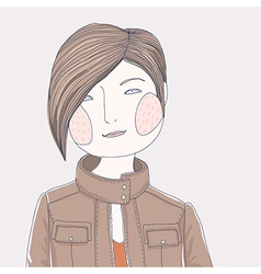 girl short vector image