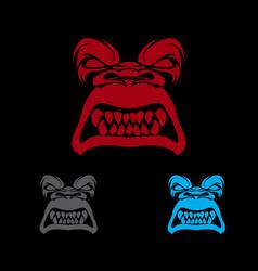 gorilla image sport mascot vector image