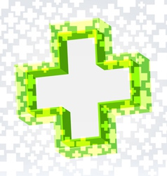 Green cross background vector image vector image