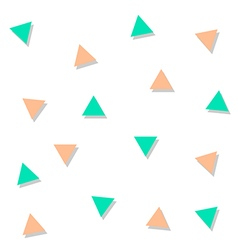 Green Orange Triangle Abstract White Background vector