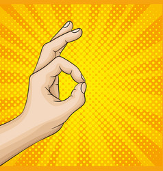 Hand gesture sign excellent or okay vector
