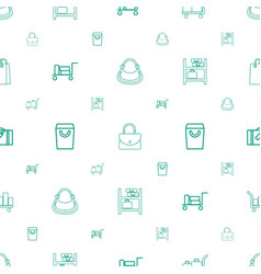 handbag icons pattern seamless white background vector image