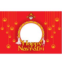 Happy navratri festival poster design vector