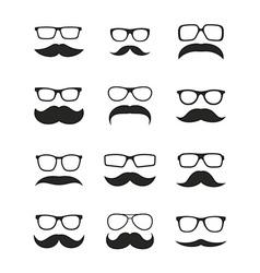 Huge set mustache vector