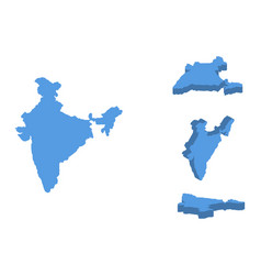 india isometric map country isolated on a white vector image