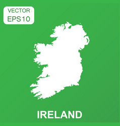 ireland map icon business concept ireland vector image