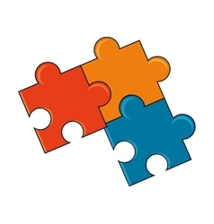 Isolated pieces of puzzle design vector image