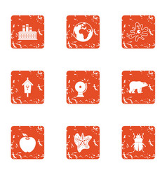 Manufactory icons set grunge style vector