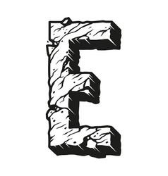 Monochrome vintage alphabet letter e template vector