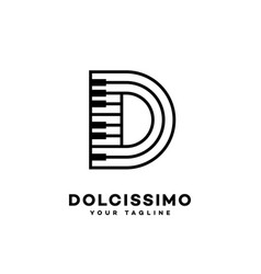 music letter d vector image