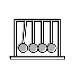 Newton pendulum isolated icon vector
