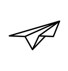 Paper plane icon in art line style vector