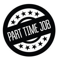 Part time job stamp on white vector