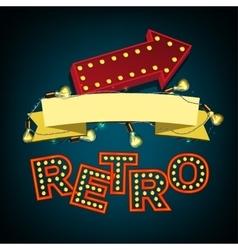 Rertro Banner image vector image