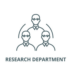 Research department line icon linear vector