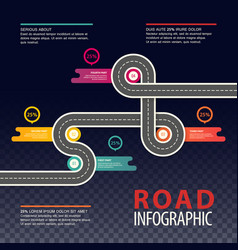 road or highway infographics car traffic map vector image