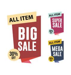 Sale all item set template design vector