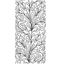 Seamless borders in doodle style Floral vector