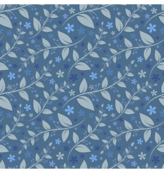 Seamless floral pattern with geometric stylizedflo vector image