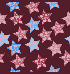 seamless star pattern with dots vector image