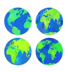 Set of earth globes vector