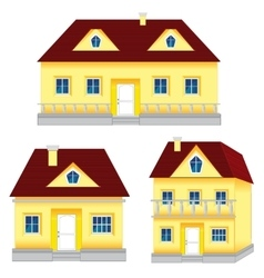 Several houses vector