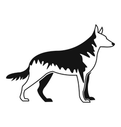 Shepherd dog icon simple style vector