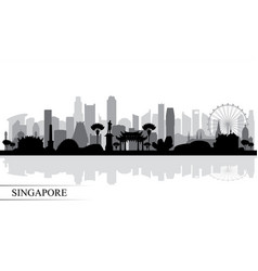Singapore city skyline silhouette background vector