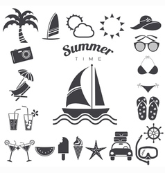 Summer icons set eps10 vector