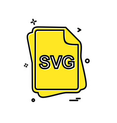Svg file type icon design vector
