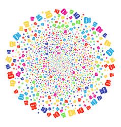 toxic rubbish burst spheric cluster vector image