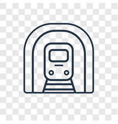 train concept linear icon isolated on transparent vector image