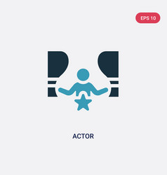 two color actor icon from people skills concept vector image