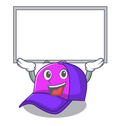Up board cap shape in the a cartoon vector