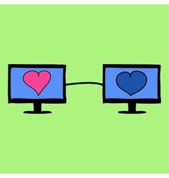 Virtual love vector image