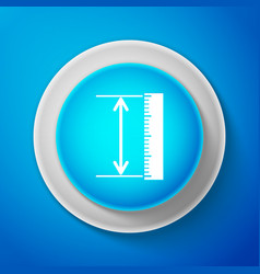 White the measuring height and length icon vector