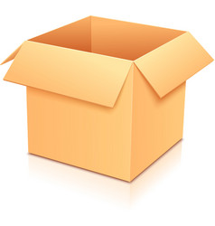 Yellow empty paper box vector