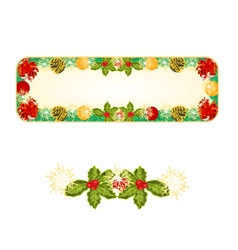 Banner Christmas Spruce with red ribbons vector image vector image