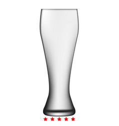 beer glass icon color fill style vector image vector image