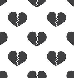 broken heart seamless pattern vector image
